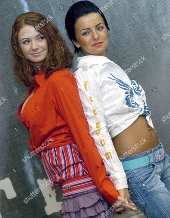 Russian Origin Duo Tatu Julia Volkova (l) and Lena Katina Pose Before a Press Conference Tuesday 29 November 2005 in Mexico City Tatu is in Mexico to Promote Their Second Single 'Friend O Foe' From the Disc 'Dangerous and Moving' Mexico Mexico City