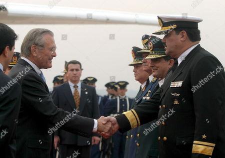 Editorial photo of Paraguay Usa Rumsfeld Visit - Aug 2005