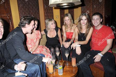 Jack MacDonald, Leah Wood, Jo Wood Rosie Huntington-Whiteley and Tyrone Wood