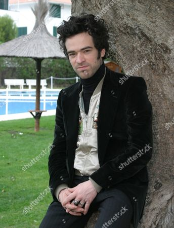 Stock Picture of French Actor Roman Duris Poses on Sunday 05 December 2004 in Sitges Catalonia Spain where He Presents His Last Movie ;arsene Lupin' at the 37th Sitges International Film Festival of Catalonia Spain Sitges (barcelona)