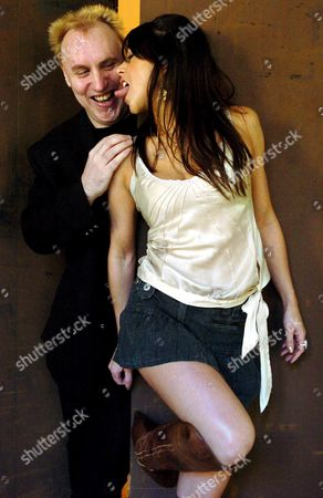 British Director Jake West (l) Jokes with Actress Emily Booth (r) Prior to the Presentation of Their Film 'Evil Aliens' Saturday 29 October 2005 at the 16th Week of Horror Films in San Sebastian North of Spain West Back in 1998 Presented in San Sebastian His First Film 'Razor Blade Smile' and Comes Back Using This Time Instead of the Heirs to Count Dracula Some who Land in the English Countryside and Plan to Conquer the Earth Spain San Sebastißn