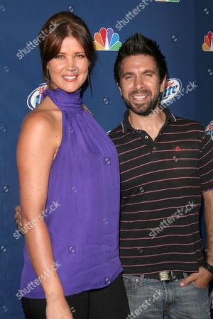Sarah Lancaster and Joshua Gomez