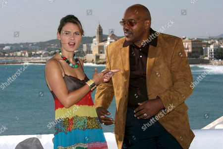 Us Actress Kristina Klebe and Us Actor Ken Foree Pose For the Photographers After Presenting Their Film 'Halloween' During the Film Festival of Sitges in Barcelona Northeastern Spain 12 October 2007 Spain Sitges