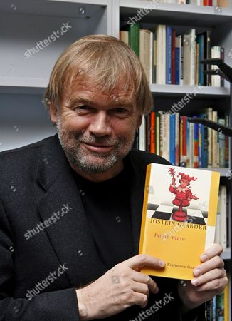Norwegian Writer Jostein Gaarder Poses During the Presentation of His Latest Book 'Jaque Mate' in Madrid Spain on Friday 20 October 2006 Spain Madrid