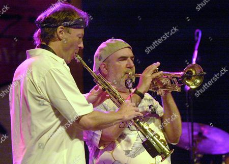 Trumpetter Randy Brecker and Saxophonist Bill Evans Perform with Randy Brecker/bill Evans Soulbop Band in the Vii International Jazz Festival of San Javier Late Friday 16 July 2004 Spain San Javier