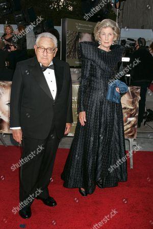Henry Kissinger and wife Nancy Kissinger
