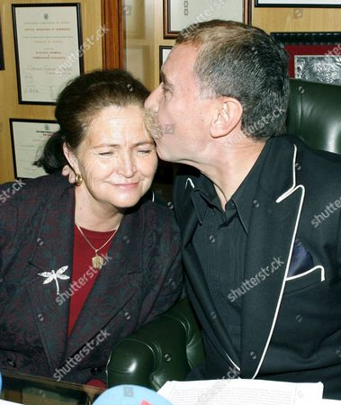 Alicia Hornos the Mother of Murdered Roc?o Wanninkhof is Kissed by Her Attorney Marcos Garc?a Montes During the Press Conference Friday 15 December 2006 Two Days After a Popular Jury Declared British Tony King Guilty of Murdering Her in 1999 in Malaga Southeastern Spain Spain Madrid