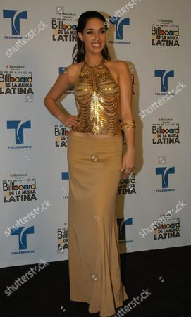 Miss Universe Dominican Amelia Vega During the Billboard Latino Awards at Miami Arena at Miami Florida Thursday 29 April 2004 United States Miami
