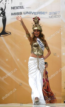 Doukissa Nomikou Miss Greece 2007 Takes to the Catwalk in Her Traditional Outfit During a Presentation in Mexico City Mexico on May 20th 2007 She Will Compete For the Title of Miss Universe 2007 During the Live Nbc Broadcast of the 56th Annual Miss Universe Competition From Mexico City Mexico on 28 May 2007 Mexico Mexico City