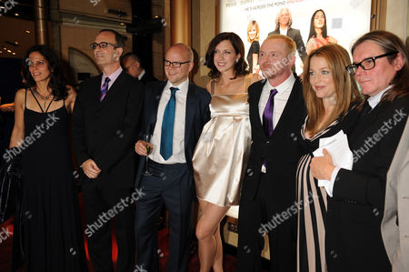 Cast and crew: (2nd L) Robert Weide, Toby Young, Margo Stilley, Simon Pegg, Gillian Anderson and Stephen Woolley