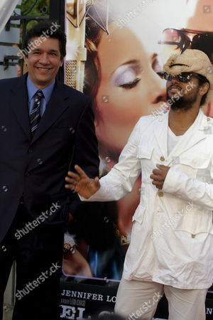Puerto Rican Rock Star Robi Draco Rosa (r) and the Producer Angelo Molina (l) Arrive at Puerto Rico Art Museum in San Juan Puerto Rico 23 July 2007 to the Movie Premiere of 'El Cantante' ('the Singer') About Deceased Salsa Music Star Hector Lavoe Puerto Rico San Juan
