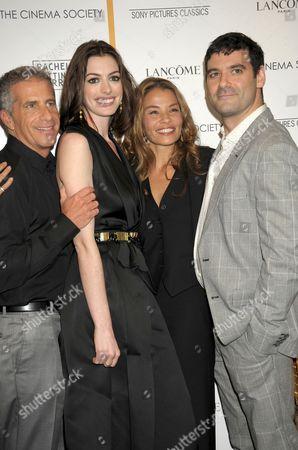 L-R: Producer Marc Platt, Actress Anne Hathaway, writer Jenny Lumet and Mather Zickel