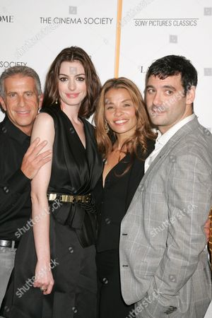 Stock Image of Producer Marc Platt, Anne Hathaway, Jenny Lumet and Mather Zickel