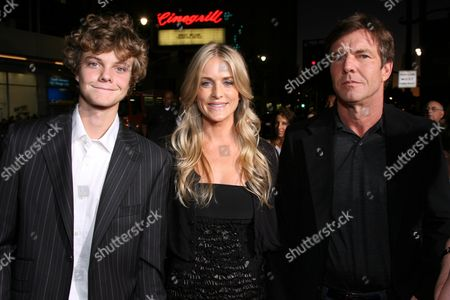 Jack Quaid, Kimberly Buffington, Dennis Quaid