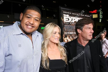Stock Image of Omar Benson Miller, Kimberly Buffington, Dennis Quaid