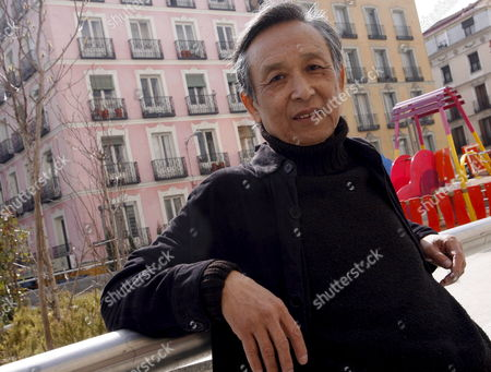 Nobel Literature Laureate in 2000 Chinese Writer Gao Xingjian Poses For the Photographers During the Presentation of the Spanish Edition of His Book 'The Other Shore' (1986) a Reflection About the Theatre in Madrid Spain 26 February 2008 Spain Madrid