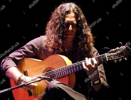 Spanish Flamenco Guitarist Jose Fernandez Torres Known As 'Tomatito' Performs on Stage Late Wednesday 12 July 2006 at the Guitar Festival of Cordoba Tomatito Presented 'Spain Again' with Pianist Michel Camilo Spain Cordoba