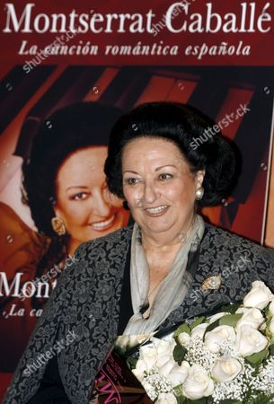 Spanish Soprano Monserrat Caballe Poses For Photographers During the Promotion of Her Latest Album 'Montserrat Caballe La Cancion Romantica Espanola' in Madrid Monday 20 November 2006 She Will Perform Tomorrow to Mark Her 50th Stage Anniversary in Basel Switzerland Spain Madrid