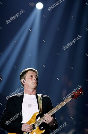 British Musician Mike Oldfield Plays Guitar During the 'Night of the Proms' International Performance at Luis Puig Cycle Track in Valencia Eastern Spain Friday 30 March 2007 Spain Valencia
