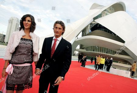Spanish Tennis Player Juan Carlos Ferrero 2003 Roland Garros Winner and His Girlfriend Patricia Bonilla Pose on 08 October 2005 As They Arrive to the Inauguration of the 'Reina Sofia' Auditorium in Valencia Designed by Spanish Architect Santiago Calatrava Spain Valencia