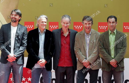 (from L-r) Tennis Players Goran Ivanisevic Bjorn Borg John Mcenroe Mats Wilander and Albert Costa During the Official Presentation of the Madrid's Masters Senior in Madrid Spain on Friday 13 April 2007 the Tournament Will Take Place From 14 to 15 April Spain Madrid