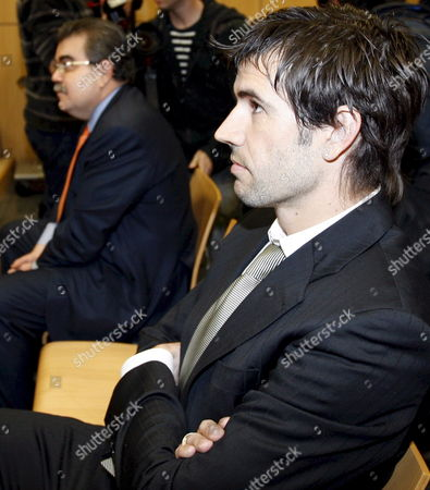 Spanish Soccer Club Valencia President Juan Soler (l) and Midfielder David Albelda (r) at the Social Court Number 13 at the Beginning of the First Hearing of the Demand Submited by Midfielder David Albelda Against the Team in Valencia Eastern Spain 22 February 2008 David Albelda Sued Valencia For Cancelling His Contract in December Along with Goalkeeper Canizares' and Miguel Angel Angulo's Contracts the Players Were Sacked From the Team by Their Coach Dutch Ronald Koeman Spain Valencia