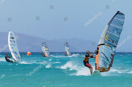 French Antoine Albeau in Action During the Windsurf World Fuerteventura Pwa in Pajara Spain 23 July 2007 Spain Pajara