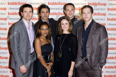 Cast of Holby - Tom Chambers, Hari Dhillon, Duncan Pow, guest, guest and Nadine Lewington