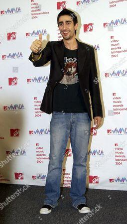 Spaniard Alex Ubago After Receving a Latin Mtv Video Music Award at the Jackie Gleason Theater in Miami Beach Florida Thursday 21 October 2004 United States Miami