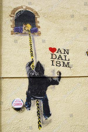 'Love Vandalism' by Nick Walker, Highbury Vaults Pub Cotham - Bristol, Britain