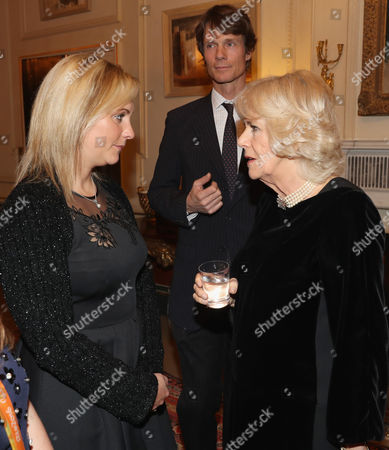 Camilla Duchess of Cornwall (R) with Equestrians Gemma Tattersall (L) and William Fox-Pitt during a reception for the British Equestrian teams who took part in the 2016 Olympic and Paralympic games at Clarence House
