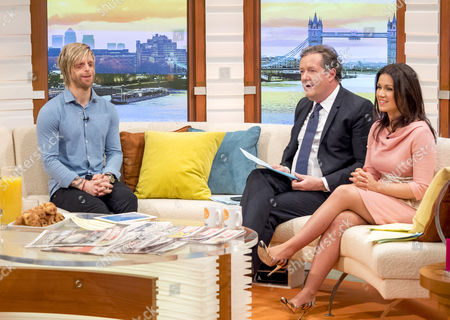 Stock Image of Jono Lancaster, Piers Morgan and Susanna Reid