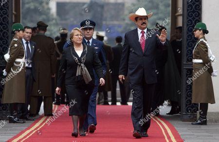 Editorial image of Chile Honduras Zelaya - Aug 2009
