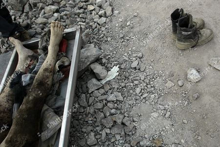 Attention Editors: Picture Contains Graphic Content View of the Body of 24 Year Old Miner Daniel Lazcano who Died Along with 40 Year Old Homero Aguirre After an Accident at the Deposit Los Reyes Chile on 08 November 2010 Near San Jose where 33 Miners Had Been Buried Underground For 70 Days Until They Were Rescued on 13 October Chilean Mining Minister Laurence Golborne Confirmed the Death of Both Miners and Stated That the Mine Had Been Operating Illegally Chile Copiapo