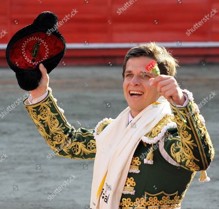 Spanish Bullfighter Julian Lopez Escobar 'El Juli' Celebrates During the Bullfighting Fair of Manizales Colombia 08 January 2010 Colombia Manizales
