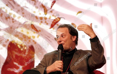 Stock Picture of Us Writer George Packer Speaks During the Inauguration of 'Malpensante 2008' Literature Festival in Bogota Colombia 26 June 2008 Colombia Bogota