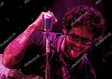 Puerto Rican Singer Robi Draco Rosa Performs During a Concert in Medellin Colombia 22 May 2010 on His Tour 'Vagabundo Por El Mundo' Promoting His Latest Production 'Amor Vincit Omnia' Colombia Medellin