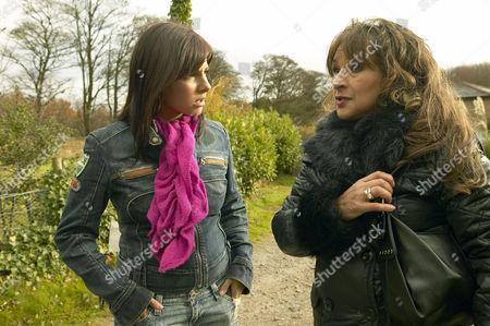 'Emmerdale'  -  Jo Stiles (Roxanne Pallett) and Jackie (Ishia Bennison)