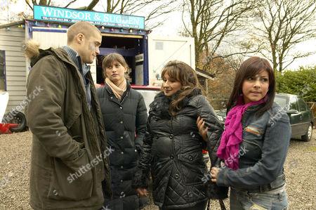 'Emmerdale'  - Scott Windsor (Ben Freeman), Debbie Dingle (Charley Webb), Jackie (Ishia Bennison) and Jo Stiles (Roxanne Pallett