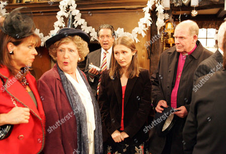 'Emmerdale'   -  Viv Hope (Deena Payne), Bett Eagleton (Paula Tilbrook) and Rodney Blackstock (Patrick Mower) and Emily Kirk (Kate McGregor)