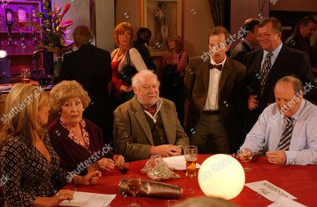 'Emmerdale'   -  Louise Appleton (Emily Symons), Betty Eagleton (Paula Tilbrook), Sandy Thomas (Freddie Jones) and Alan Turner (Richard Thorp)