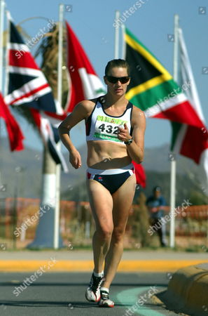 Australian Athlete Claire Tallent Competes During the 20 Kilometers Women Test at the World Cup of Chihuahua in the City of Chihuahua Mexico 05 March 2011 Portuguese Athletes Ines Herique Vera Santos and Susan Feitor Won the Test in That Order Mexico Chihuahua