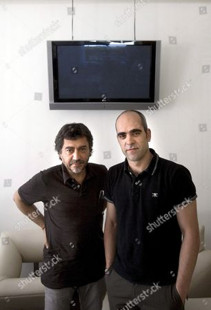 Spanish Film Director Antonio Chavarrias (l) and Spanish Actor Luis Tosar (r) During an Interview Promoting Their New Movie 'Las Vidas De Celia' (celia's Lifes) in Mexico City Mexico on 21 April 2008 Mexico Mexico