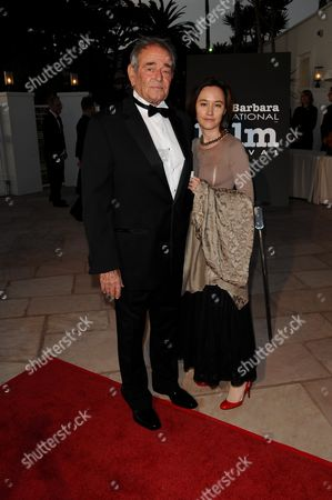 Stock Image of Stuart Whitman and Wife Julie