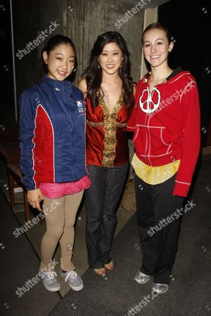 Marai Nagasu, Kristi Yamaguchi and Kimmie Meissner