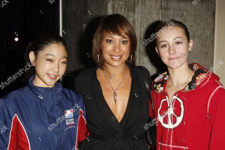Marai Nagasu, Cheryl Burke and Kimmie Meissner