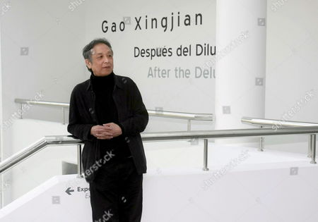 Gao Xingjian the First Chinese Recipient of the Nobel Prize in Literature (in the Year 2000) Poses on Occasion of the Presentation of the Exhibition 'Despues Del Diluvio' (literally 'After the Flood') at the Wuerth Museum of Contemporary Art in Agoncillo Town La Rioja Region Northern Spain 03 December 2008 the Exhibition Shows Eighty Paintings in Indian Ink Painted by Xingjian From 1980 to Date Spain Agoncillo