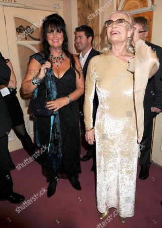 Caroline Munro and Shirley Eaton