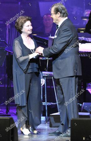 Stock Photo of Zena Marshall and Roger Moore