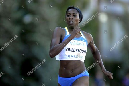 Belgian Athlete Elodie Ouedraogo in Action During the Andalusia Grand Prix of Athletics of the European Athletics Outdoor Premium Meetings at the Chapin Stadium in Jerez Cadiz Andalusia Southern Spain 24 June 2008 Spain Jerez De La Frontera (cadiz)